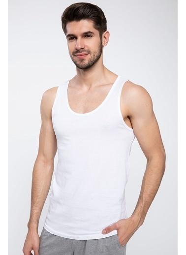 DeFacto 2'li Slim Fit Atlet Beyaz